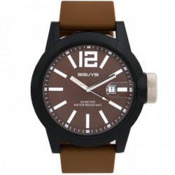 3GUYS CROWN BROWN rubber strap