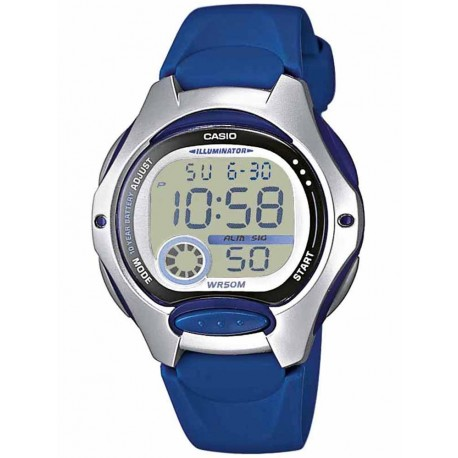 CASIO COLLECTION blue rubber strap LW-200-2AVEF