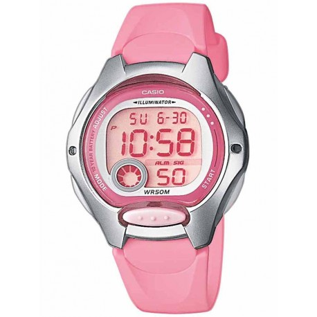 CASIO COLLECTION ILLUMINATOR pink rubber strap LW-200-4BVEF