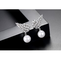 WING PEARLS EARRINGS