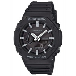 CASIO G-SHOCK CHRONOGRAPH black rubber strap GA-2100-1AER