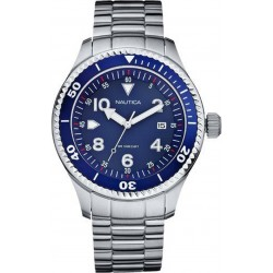 NAUTICA blue dial stainless steel bracelet