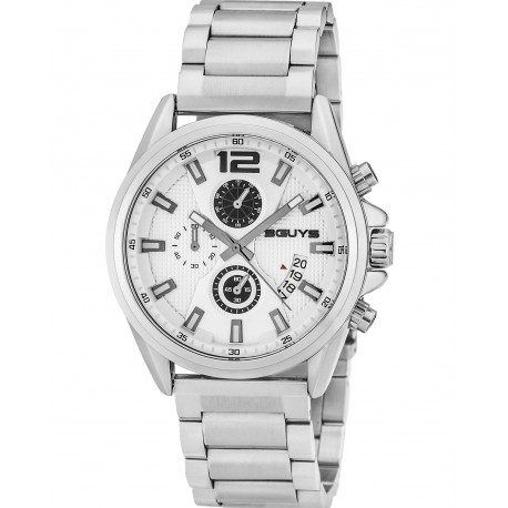 ΡΟΛΟΪ 3GUYS CHRONOGRAPH stainless steel bracelet 3G49022