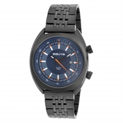 ΡΟΛΟΪ 3GUYS PILOT black stainless steel bracelet 3G77505