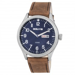 ΡΟΛΟΪ 3GUYS DAY-DATE blue dial 3G52005