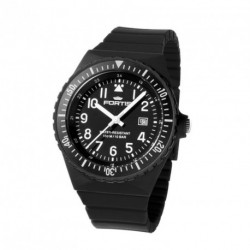 FORTIS COLORS UNISEX black silicone strap