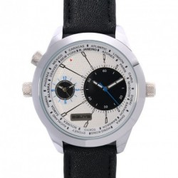 3GUYS DUAL-TIME black leather strap