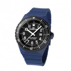 FORTIS COLORS UNISEX navy silicone strap C05