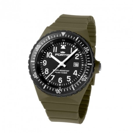 FORTIS COLORS UNISEX olive silicone strap C06