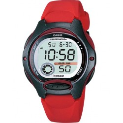 CASIO COLLECTION ILLUMINATOR red rubber strap LW-200-4AVEF