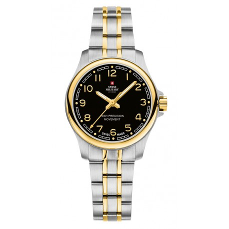 SWISS MILITARY by CHRONO Ladies two-tone stainless steel bracelet