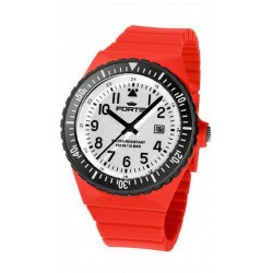 FORTIS COLORS UNISEX red silicone strap