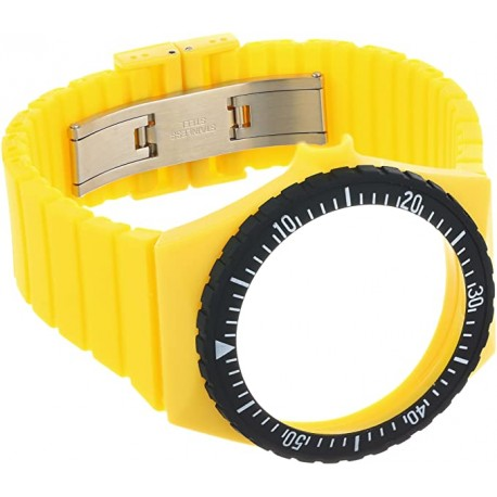 FORTIS COLOS YELLOW silicone strap C20