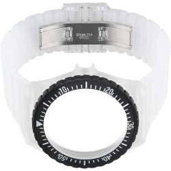 FORTIS COLORS TRANSPARENT silicone strap
