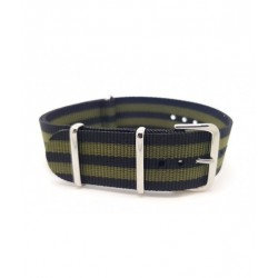 BLACK - KHAKI FABRIC NATO STRAP