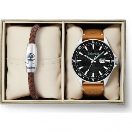 TIMBERLAND SWAMPSCOTT brown leather strap TBL15941JYTB/02