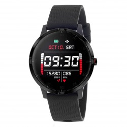 3GUYS SMARTWATCH black rubber strap - 3GW1601