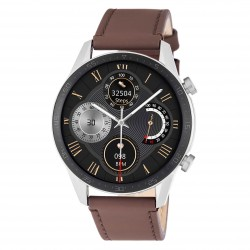 3GUYS SMARTWATCH brown leather strap - Bluetooth call 3GW1092