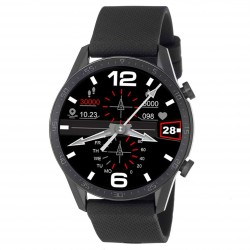 3GUYS SMARTWATCH black silicone strap - Bluetooth call 3GW1093
