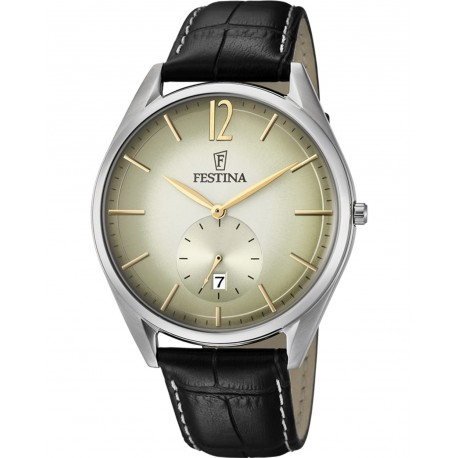 FESTINA Black leather strap F6856/1