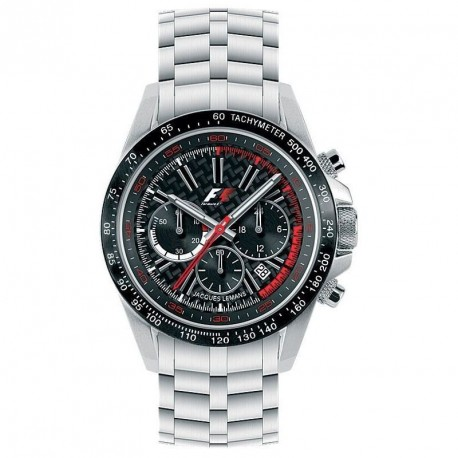 JACQUES LEMANS FORMULA 1 COLLECTION LADIES CHRONO black dial
