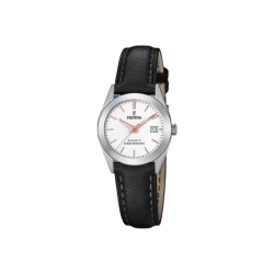 FESTINA LADIES black leather strap F20455/A