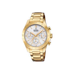 FESTINA DIAMOND CHRONOGRAPH gold stainless steel bracelet F20400/1 - ΔΩΡΟ ΑΤΣΑΛΙΝΟ ΒΡΑΧΙΟΛΙ