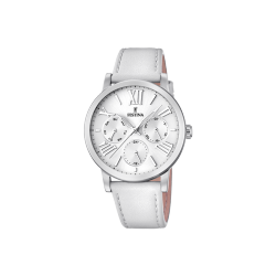 FESTINA BOYFRIEND COLLECTION white leather strap F20451/1 - ΔΩΡΟ ΑΤΣΑΛΙΝΟ ΒΡΑΧΙΟΛΙ