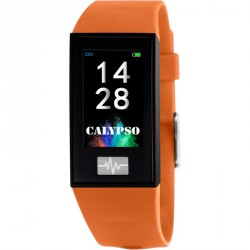CALYPSO SMARTWATCH UNISEX orange rubber strap Κ500/3