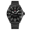 SWISS MILITARY by CHRONO NIGHT LIGHTS black stainless steel bracelet SM34080.03