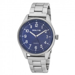 3GUYS stainless steel bracelet - blue dial 3GW54021