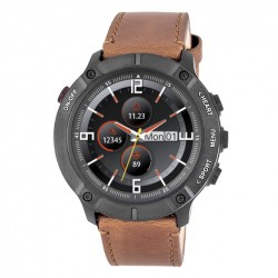 3GUYS SMARTWATCH brown leather strap 3GW3502