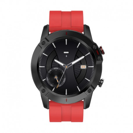 3GUYS SMARTWATCH CHRONOGRAPH red silicone strap 3GW2052