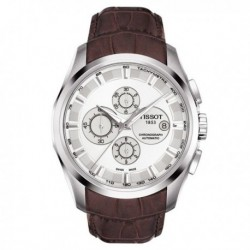 TISSOT TREND Couturier Automatic Chronograph Brown Leather Strap