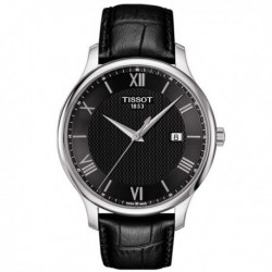 TISSOT T-Classic Tradition Mens Black Leather Strap