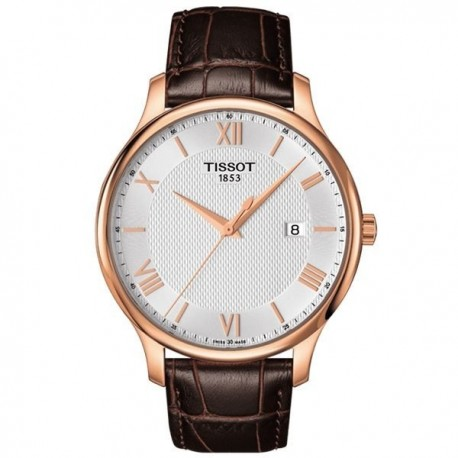TISSOT T-Classic Tradition Mens Brown Leather strap T063.610.36.038.00