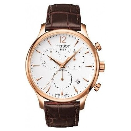TISSOT T-Classic Tradition Chronograph Brown Leather Strap T063-617-36-037-00