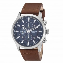 3GUYS CHRONOGRAPH brown leather strap 3G03005