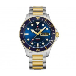 SWISS MILITARY by CHRONO Mens two-tone stainless steel bracelet SM34068.11