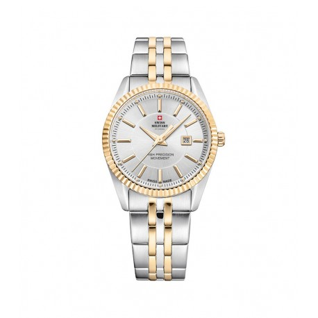 SWISS MILITARY by CHRONO Ladies two-tone stainless steel bracelet SM34066.05