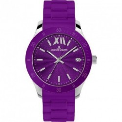 JACQUES LEMANS ROME purple silicone strap 1-1622K