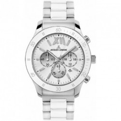 JACQUES LEMANS SPORTS chronograph 1-1681B - ceramic bracelet