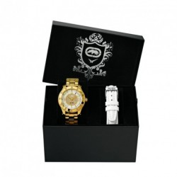 MARC ECKO THE ROLLIE BOX with extra white leather strap E 17590M