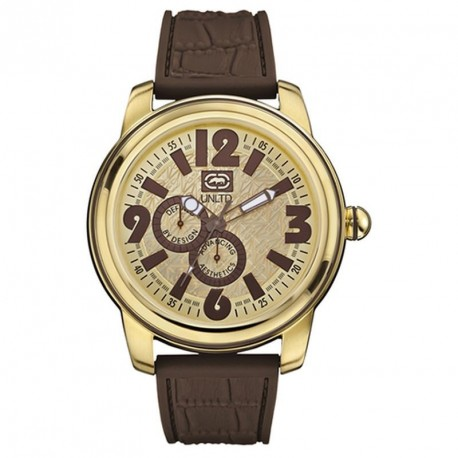 MARCK ECKO MIAMI COLLECTION brown rubber strap