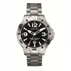 NAUTICA BFD 101 black dial stainless steel bracelet A14544G