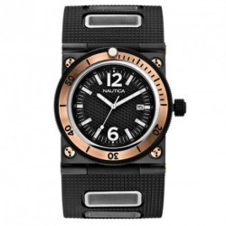 NAUTICA rose gold case rubber strap