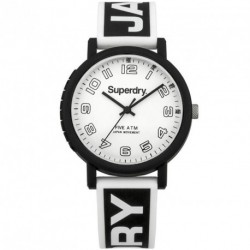 SUPERDRY CAMPUS black rubber strap SYG196BW