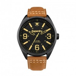 SUPERDRY MILITARY brown leather strap SYG199TB