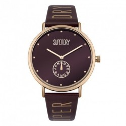 SUPERDRY OXFORD brown leather strap SYL175RRG