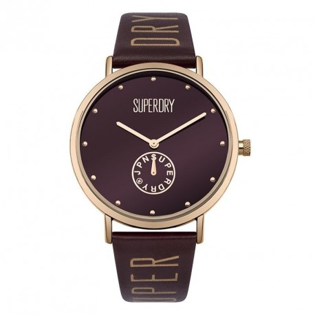 SUPERDRY OXFORD brown leather strap